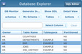 SQLfly Enterprise Mobile - Database Explorer Select Row for Detail View